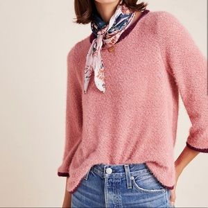 "Anthro ""Eri + Ali"" Chenille Baysel Sweater"